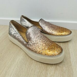 Stuart Wietzman Biarritz Women's Slip On Sneaker Size 7 M Glitter