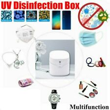 Upgraded Portable UV Sterilizer Box Cellphone Face Mask One-click Disinfection