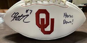 Spencer Rattler signed Oklahoma OU Sooners logo football PSA COA Auto