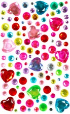 Heart Gem Stick On Diamantes Rhinestones Gems Crystals Beads Assorted Sizes