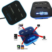 3 ports USB 2.0 HUB with Multi-card Reader Combo for SD/MMC/M2/MS MP-All In One