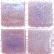 75 Vitreous Iridescent Mosaic Tiles 20mm - Lilac Quartz