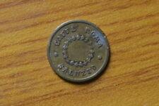 ANTICO GETTONE CAFFE' ROMA SALUZZO 20 CENTESIMI numismatica SUBALPINA