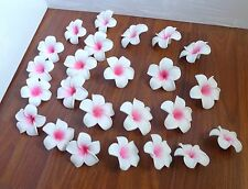"Set of 24 Artificial Foam Flowers 2.7"" (7 cm) Pink Plumeria Heads"