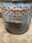 Vintage Falls City 810 Air Breather Minnow Bucket w/ paper liner And Wood Handle