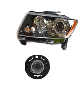 NEW Driver Left Genuine Headlight Headlamp & Fog Light For Jeep Compass 14-17