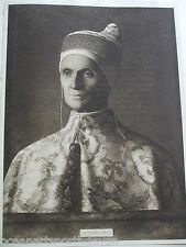 Antiguo impresión 1901 el Doge por John Bellini Religous imagen católica cristiana