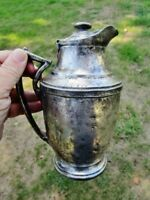 c.1930 THE NEW YORKER HOTEL NY Vintage Restaurant Silver Soldered TEA COFFEE POT