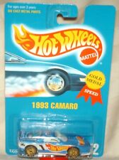 Hot Wheels 1993 #262 93 Camaro light blue, jack baldwin on roof gold ultra hots