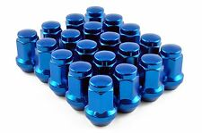 Capped Wheel Nuts STEEL - BLUE - M12 x 1.5 Toyota Mitsubishi Honda
