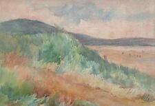 IMPRESSIONIST COASTLINE Watercolour Painting MARCUS ADAMS c1930