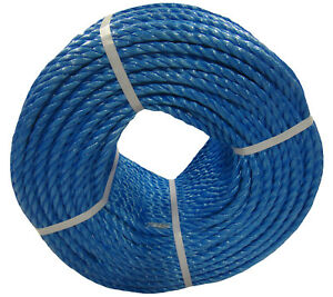 8mm Blue Polypropylene Rope Coils, Poly rope, PP Sailing, Agriculture, Camping