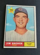 ORIGINAL1961 TOPPS CHICAGO CUBS BASEBALL CARD #317 JIM BREWER  EX.MINT