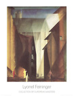 LYONEL FEININGER Church view 35.5 x 27.5 Poster Expressionism Brown, Black, Whit