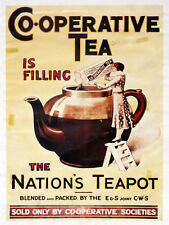 co-operative tea, retro vintage style metal sign/plaque kitchen