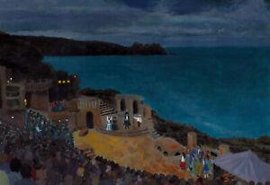"""Evening performance, The Minack theatre""   Cornwall/Cornish art"