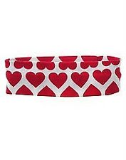 NEW GYMBOREE SWEETHEART Headband White Red Hearts One Size Girls