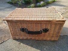 WICKER PICNIC BASKET craft storage hamper