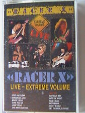 "RACER X ""LIVE EXTREME VOLUME"" CASSETTE 1983 PAUL GILBERT SCOTT TRAVIS JEFF MARTI"