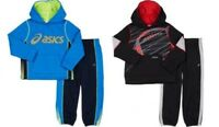 NWT ASICS BOYS 2 PIECE HOODIE & SWEAT PANT ATHLETIC SET - 2T / 4T