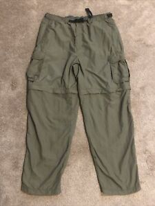 "REI UPF 50+ Sahara Convertible Hiking Pants Men's 30"" Inseam Cargo Green Sz. L"