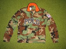 (M) Polo-Ralph Lauren Tarnfarbe Polar-Fleece USA Flagge Sweatshirt / Hemd