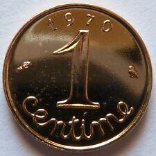 1 Centime Epi 1970 plaqué Or. Pour faire un cadeau souvenir du Franc