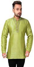 Mens Short Length Kurti Shirt Style Wedding Kurta Formal Wear Tunic Apparel 2013
