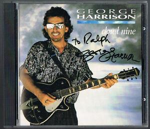 GEORGE HARRISON Cloud Nine SIGNED ORIGINAL CD COVER Autographed JSA LOA COA