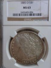 US COINS, 1885-O MORGAN DOLLAR, NGC MS63