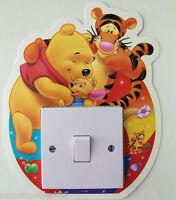 Winnie The Pooh Hugs Light Switch Wall Stickers Glow in The Dark Kids Room