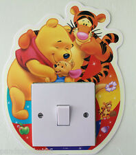 Winnie The Pooh Hugs Light Switch Wall Stickers Glow in The Dark Kids Room