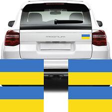 4x Ucraina Bandiera Auto Furgone Bicicletta Adesivi-Україна прапор стікер Decalcomania Grafica