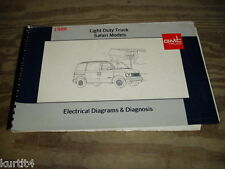 1989 GMC Safari minivan van wiring diagram service shop manual