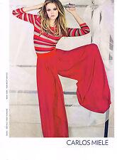 PUBLICITE ADVERTISING  2011    CARLOS MIELE   haute couture