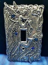 Blue Fairy Pewter Light Switch Plate Single Switch Fellowship Foundry US Made