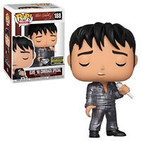 Funko POP Rocks Elvis Presley 68 Comeback 188 Diamond Exclusive NIB - In Stock