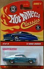 Hot Wheels Serie Clásica 1.2m67 Dodge Charger 3/15 Turquesa