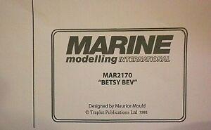 MODEL BOAT PLANS   BETSY BEV     #MAR2170