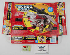 Vintage 1990's Techno Zoids Storm Tiger EMPTY box, manual & new decal sheet