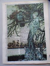 Arthur RACKHAM VINTAGE DIZIONARIO pagina, Kat Croker, no15 Peter Pan Kensington