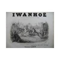 WOLFRAMM CARON Gustave Iwanhoë Quadrille Piano XIXe partition sheet music score