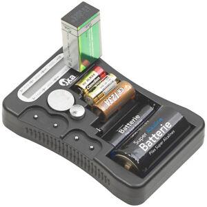 tka Digitaler Profi-Batterietester mit LCD-Anzeige, für gängige Batterien