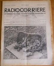 """RADIOCORRIERE EIAR 1932  N° 40 - """"BALILLA"""" - DISEGNO MONGUIDI BOLDI    6/17"""
