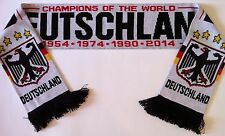 GERMANY WORLD CUP WINNERS WHITE Football Scarve NEW from Superior Acrylic Yarns