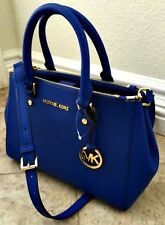 💝 100% BNWT Michael Kors Cobalt Blue SUTTON Saffiano Leather Satchel Bag 💝
