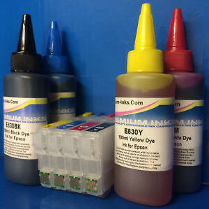 Reusable Cartridges 400ml INK FOR Epson Expression Home XP342 XP345 XP432 XP435