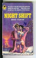 NIGHT SHIFT by Brad Curtis, rare US Midwood office sleaze gga pulp vintage pb