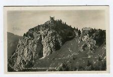 AK Falkenstein Burg y ruinas pfronten BAVIERA interpretar CON MARCA 1922