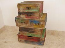 Vintage Retro Cabinet 6 Drawers Retro style Storage Chest multi Colour Chest